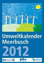 Umweltkalender 2012 - Stadt Meerbusch