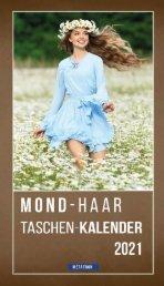 Mond-Haar-Taschenkalender 2021  - METATRON Verlag