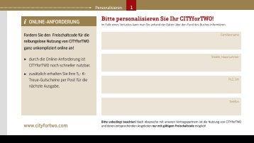ONLINE-ANFORDERUNG www.cityfortwo.com Bitte personalisieren ...