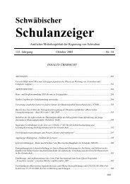 Schwäbischer Schulanzeiger - Regierung von Schwaben - Bayern