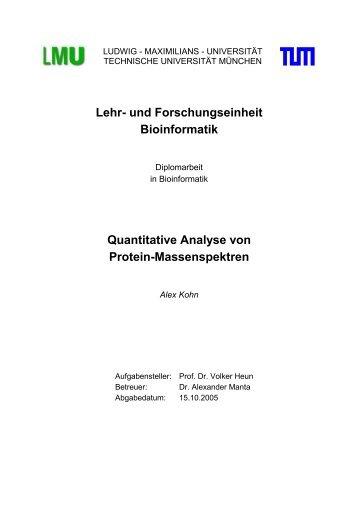 Quantitative Analyse von Protein-Massenspektren