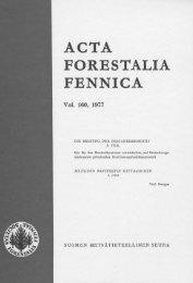 ACTA FORESTALIA FENNICA Voi. 160, 1977 - Helda