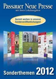 Sonderthemen 2012 - Passauer Neue Presse