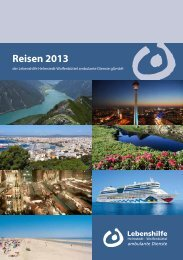 Reisen 2013 - Lebenshilfe Helmstedt-Wolfenbüttel