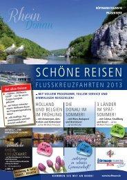 SCHÖNE REISEN - Flusskreuzfahrten 2013 (PDF) - Bustouristik