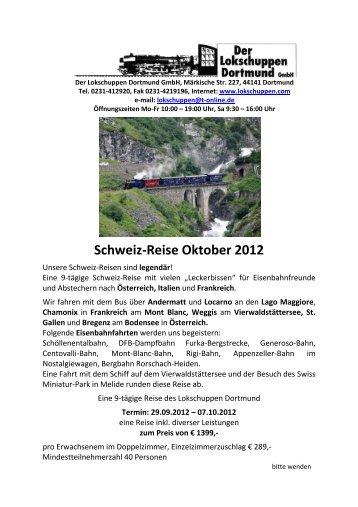 Schweiz-Reise Oktober 2012 - Der LOKSCHUPPEN Dortmund