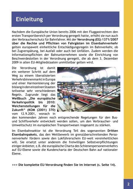 FAHRGASTRECHTE: Clever Reisen! - BMELV