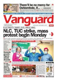 23092020 - ELECTRICITY TARIFF, FUEL PRICE HIKE: NLC, TUC strike, mass protest begin Monday