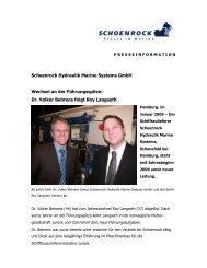 Dr. Volker Behrens folgt Roy Langseth - Schoenrock Hydraulik