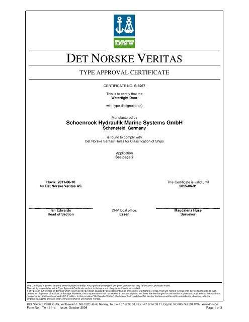 DET NORSKE VERITAS - DNV Exchange
