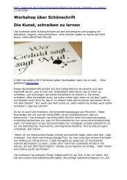 Workshop über Schönschrift Die Kunst, schreiben zu lernen