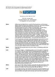 Prof. Dr. Ursula Lehr Bundesministerin a.D., Gerontologin im ... - 1