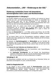 Dokumentation LRS - Gesamtschule Gleiberger Land
