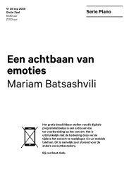 2020 09 25 Een achtbaan van emoties - Mariam Batsashvili
