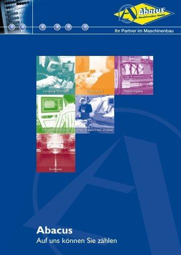 Imagebroschüre der Abacus Maschinenbau GmbH