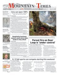 Mountain Times - Volume 49, Number 39 - Sept.23-29, 2020