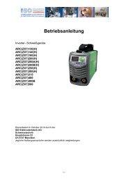 Betriebsanleitung - ISO Schweisstechnik AG