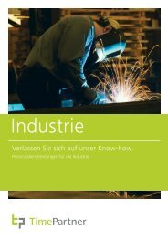 Branchenbroschüre Industrie - TimePartner