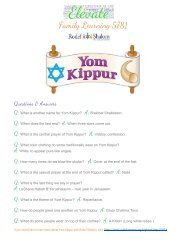 Yom Kippur Family Activities 5781 - Elevate your holiday with Rodef Shalom (Denver)