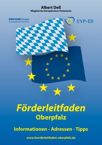 Förderleitfaden Oberpfalz - Heidi Rackl