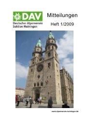 Sektionsmitteilung 2009 - DAV Sektion Meiningen