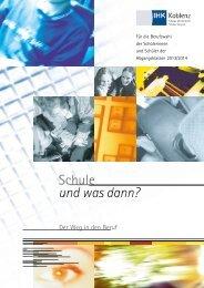 Schule und was dann? - IHK Koblenz