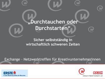 PPP Durchtauchen oder Durchstarten - Creativwirtschaft.at
