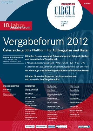Österreichs größte Plattform für Auftraggeber und ... - Business Circle