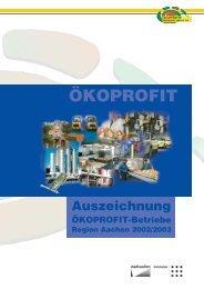 ÖKOPROFIT Region Aachen 2002/2003 - Die Ergebnisse