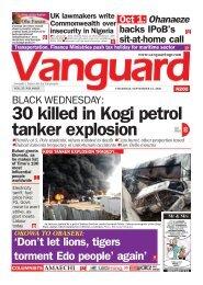 24092020 - BLACK WEDNESDAY: 30 killed in Kogi petrol tanker explosion