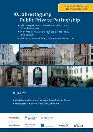 10. Jahrestagung Public Private Partnership - VBD ...