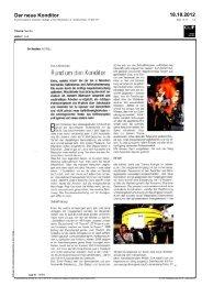 Der neue Konditor 18.10.2012 - Vivatis
