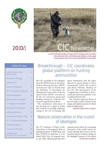 Dear Friends - International Council for Game and Wildlife ...