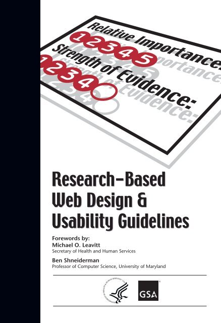 Research Based Web Design Usability Guidelines Usability Gov