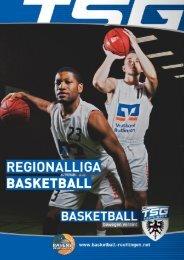 Basketball Ravens TSG Reutlingen Heimspiele 2020_21
