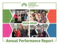 CPF Ontario Annual Performance Report 2019-2020