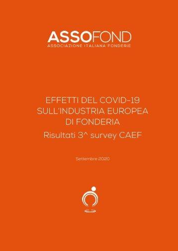 Effetti del Covid-19 sull'industria europea di fonderia - 3a Survey Caef (settembre 2020)