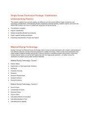 Single Screw quality technician certification