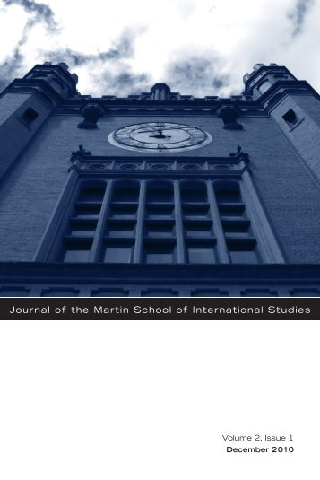 Journal of the Martin School of International Studies
