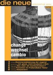 change wechsel cambio - Neue Kantonsschule Aarau