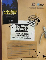 Policy Brief: Rethinking Schooling for the 21st Century