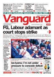 25092020 - FG, Labour adamant as court stops strike