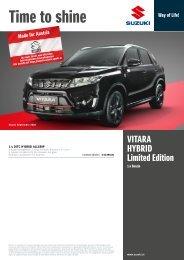 VITARA Limited Edition Preise, Ausstattung und technische Daten