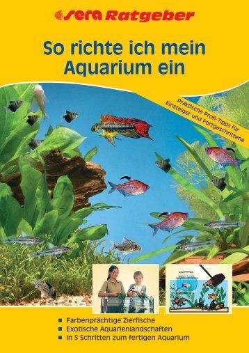 So richte ich mein Aquarium ein - sera GmbH