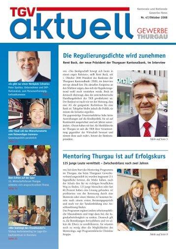 Ausgabe Oktober 2008 - Thurgauer Gewerbeverband TGV