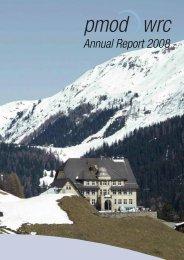 Jahresbericht 08 - PMOD/WRC