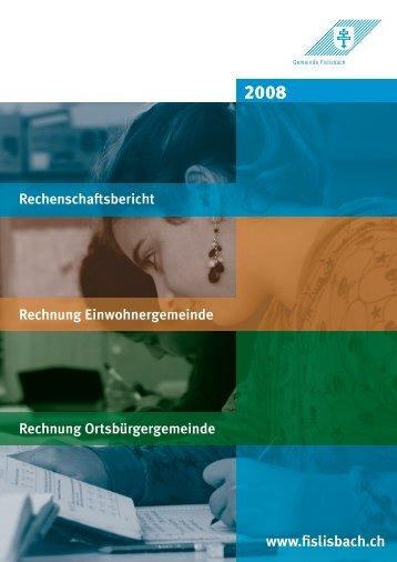 Rechenschaftsbericht - Gemeinde Fislisbach