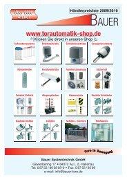 Preisliste komplett - Bauer Systemtechnik GmbH, Au in der Hallertau