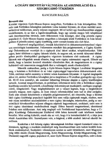 Publicationes Universitatis Miskolciensis. Sectio Philosophica ... - EPA
