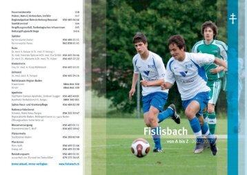 Veranstaltungskalender 2011/12 - Gemeinde Fislisbach